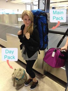 You need both a main pack and a day pack when traveling