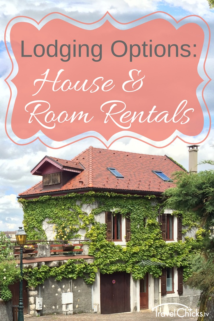 Lodging options overseas - house and room rentals