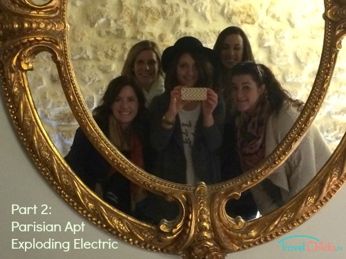 Travel Chicks at their Parisian apartment from Homeaway