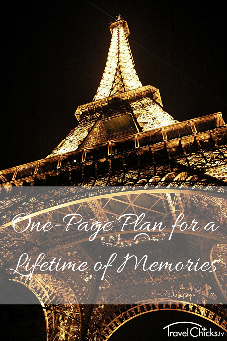 One-Page Plan for a Lifetime of Memories